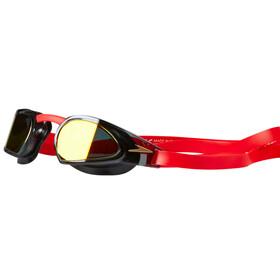 speedo Fastskin Prime Mirror Goggle Red/Black/Gold Mirror
